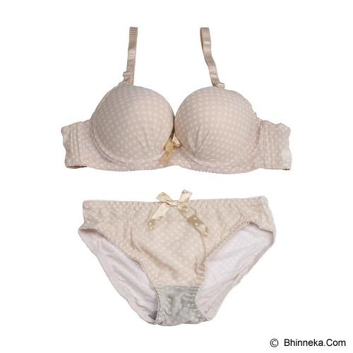YOU'VE Alodie star Bra Set Size 36 [229] - Brown - Bra Set